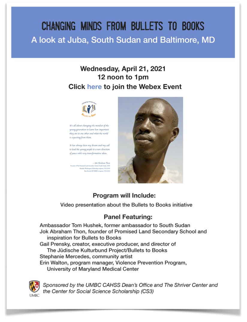 Changing Minds From Bullets to Books: A look at Juba, South Sudan and Baltimore, MD